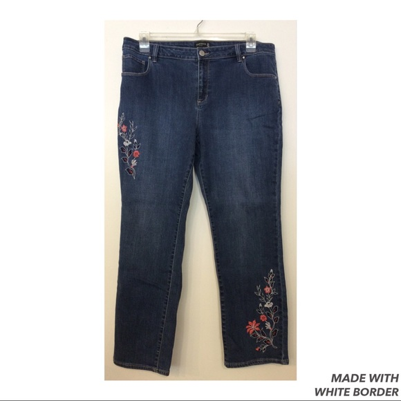 Susan Graver Denim - Susan Graver Embroider Jeans